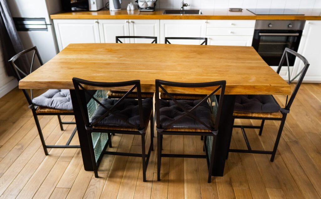 Tischbeine Metall (schwarz beschichtet) bei Eichenholzprofi